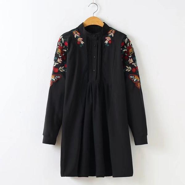 Hijab Modesty Istanbul - Long Sleeve Floral Embroi