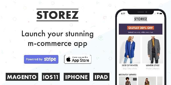 Storez Magento iOS eCommerce App (Single License)