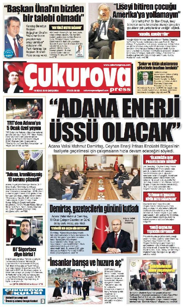 Çukurova Press Gazetesi Aboneliği (1 Yıl)